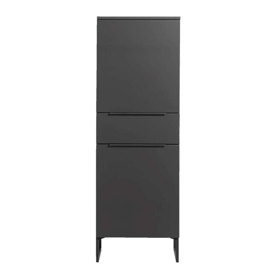 Rangement Malaga - couleur anthracite/noir - 175x60x41 cm