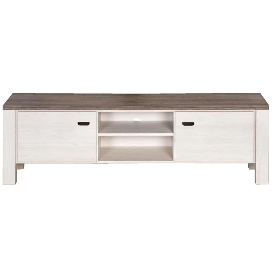 TV-meubel Lynn wit eikenkleur 52x170x50 cm Leen Bakker