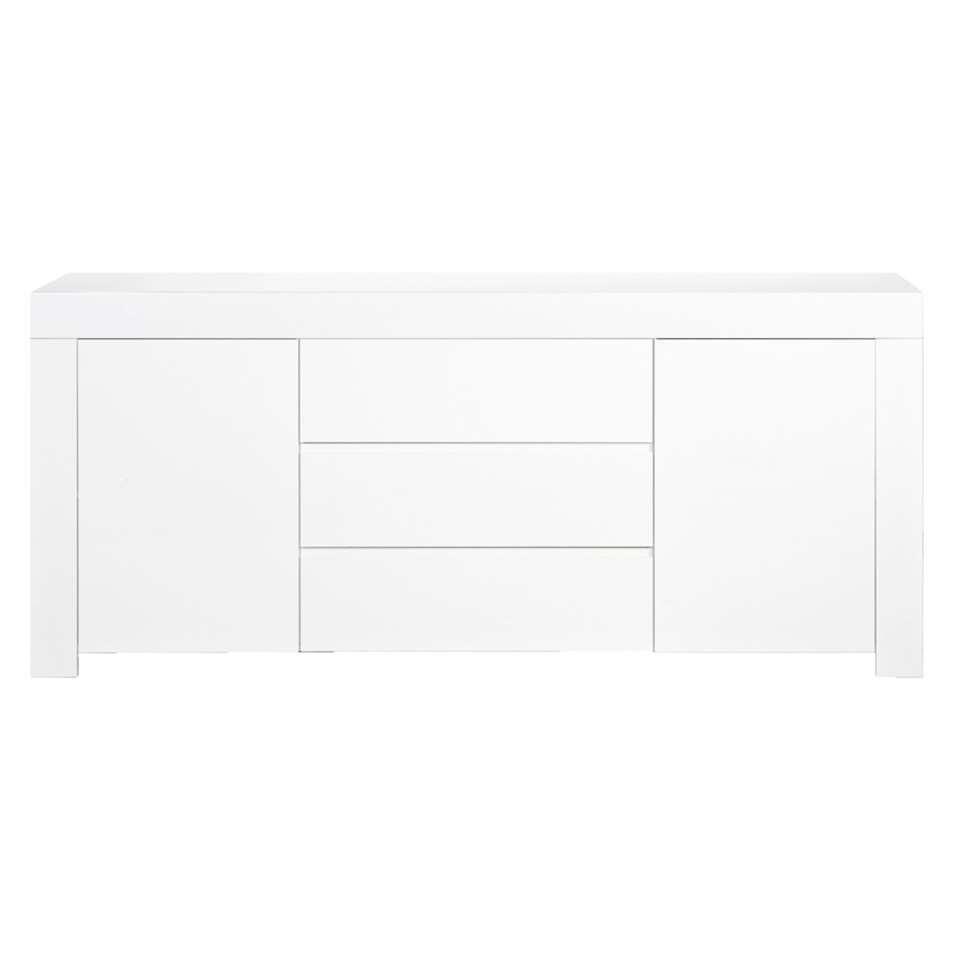 Dressoir Amalfi - wit - 84x190x50 cm - Leen Bakker