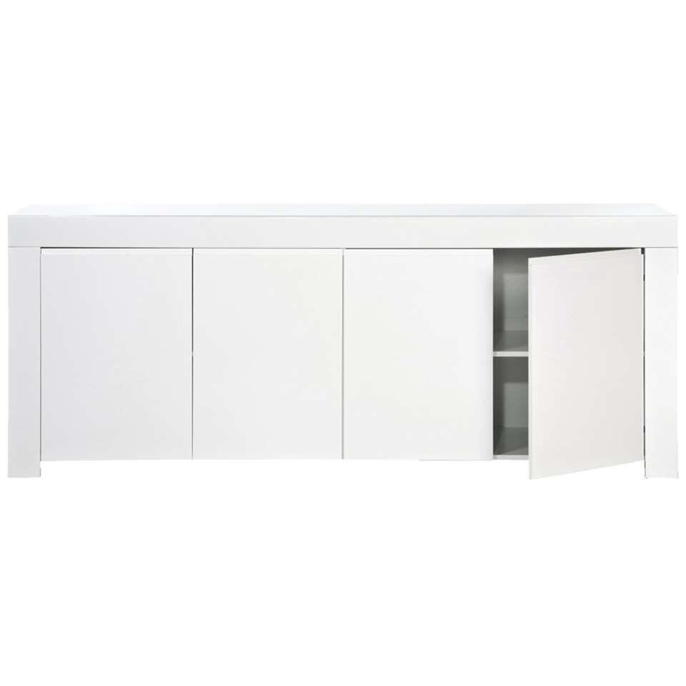 Dressoir Amalfi - wit - 84x210x50 cm - Leen Bakker