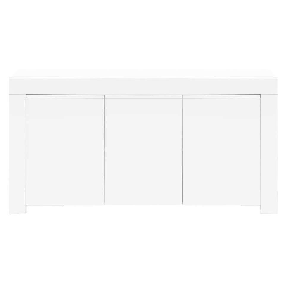Dressoir Amalfi 3-deurs - hoogglans wit - 50x160x84 cm - Leen Bakker