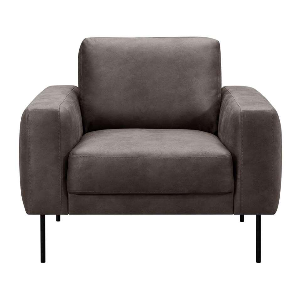 Fauteuil Tom small - microleder - antraciet