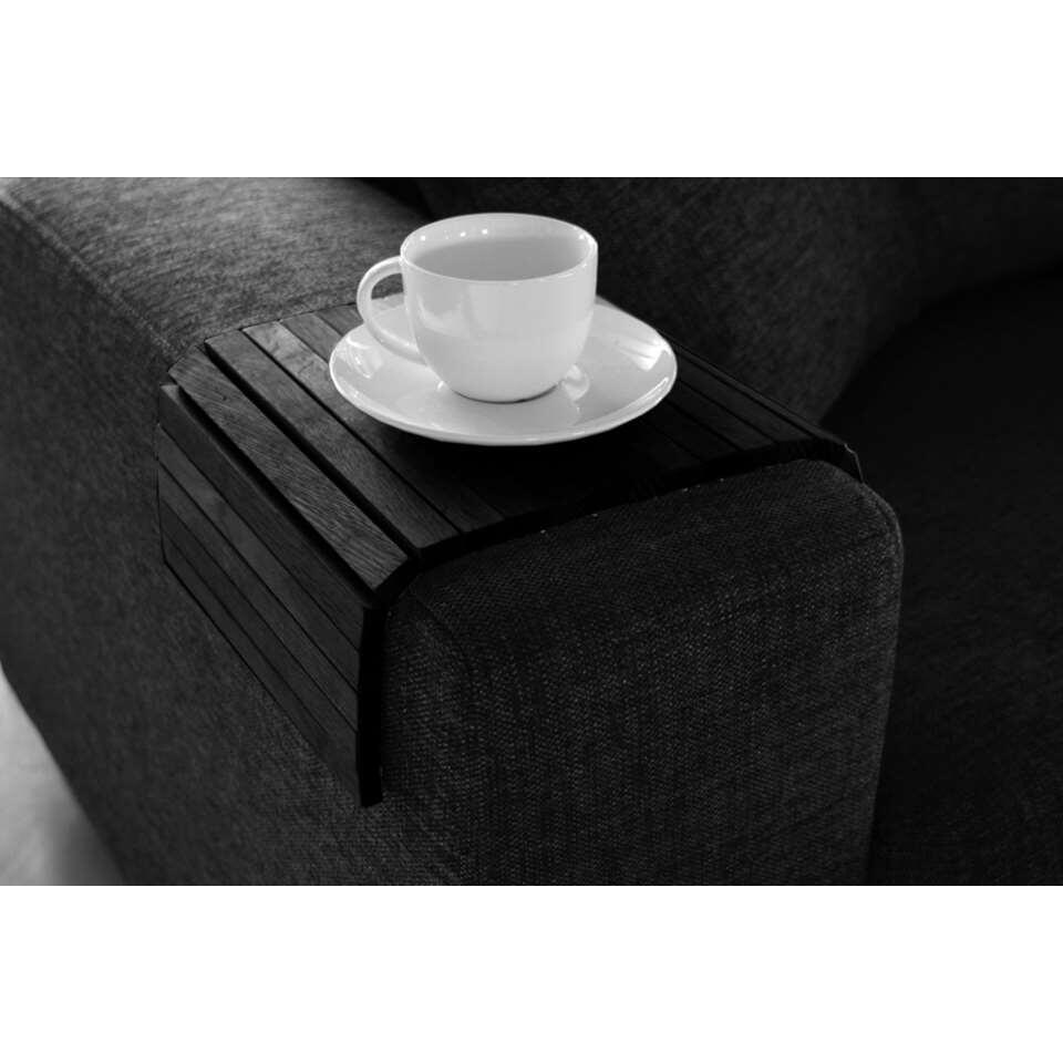 Dienblad Butler - zwart - 44x24 cm - Leen Bakker