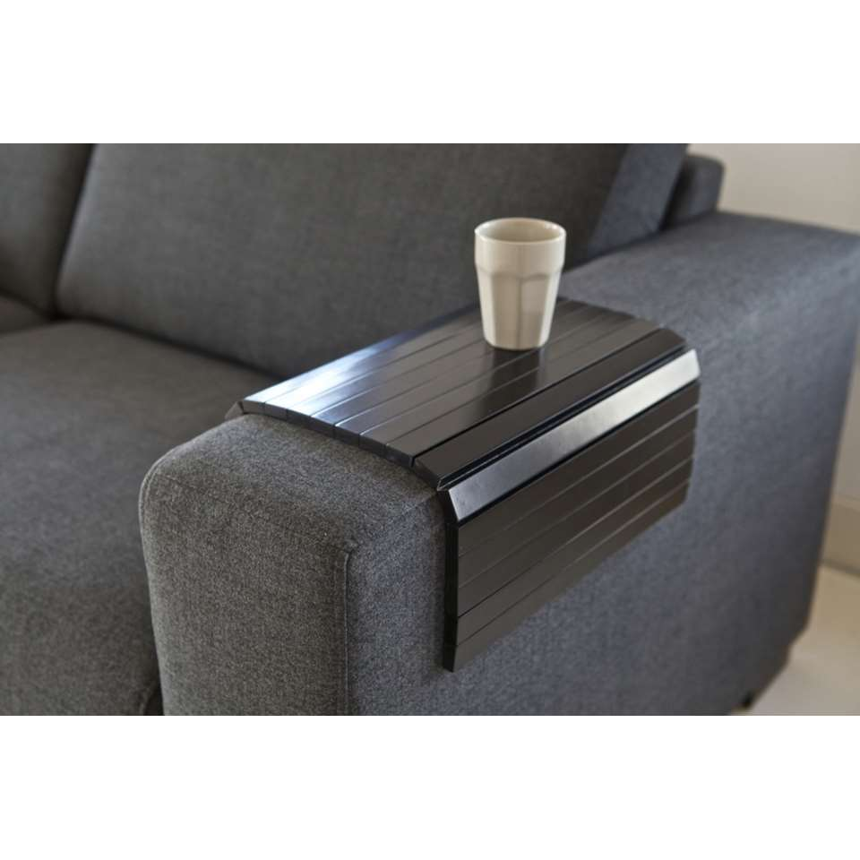 Woood Dienblad Butler - zwart - 36x45 cm - Leen Bakker