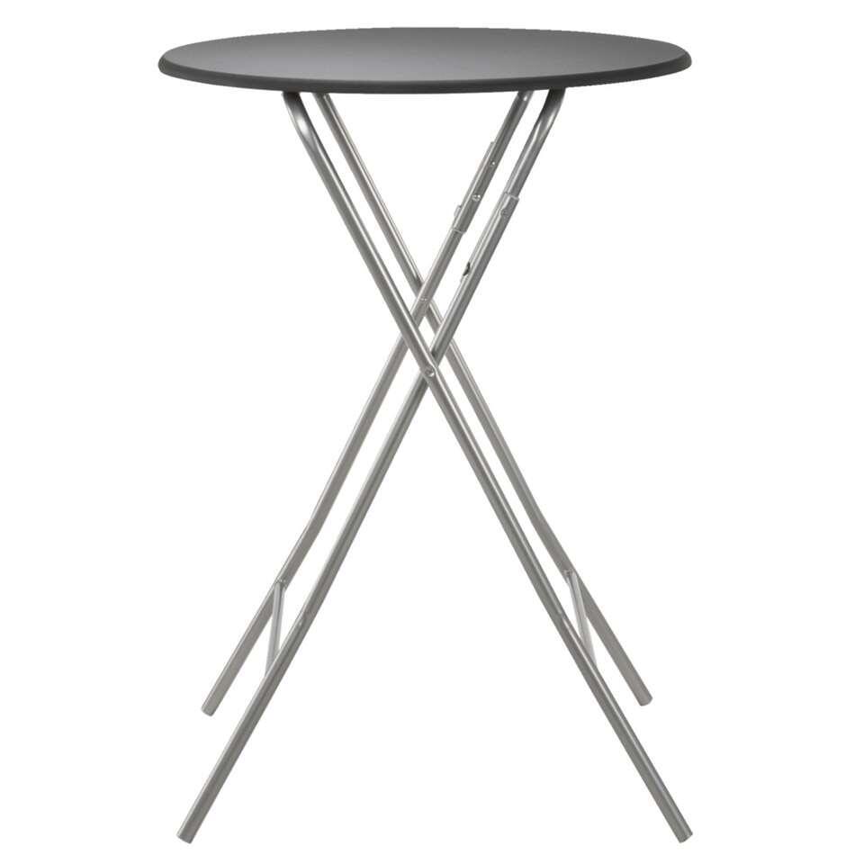 Sta-tafel Asten inklapbaar - zwart - Ø80x112 cm - Leen Bakker