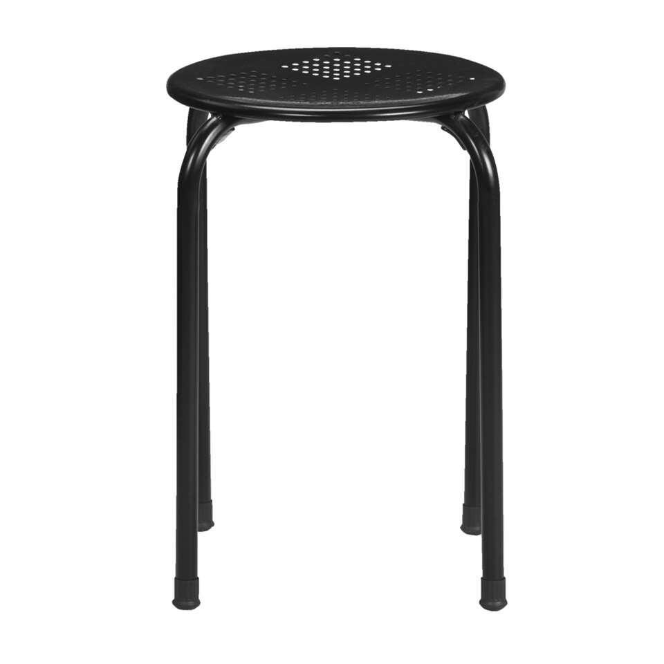 Kruk Ede - zwart - 45x37x37 cm - Leen Bakker