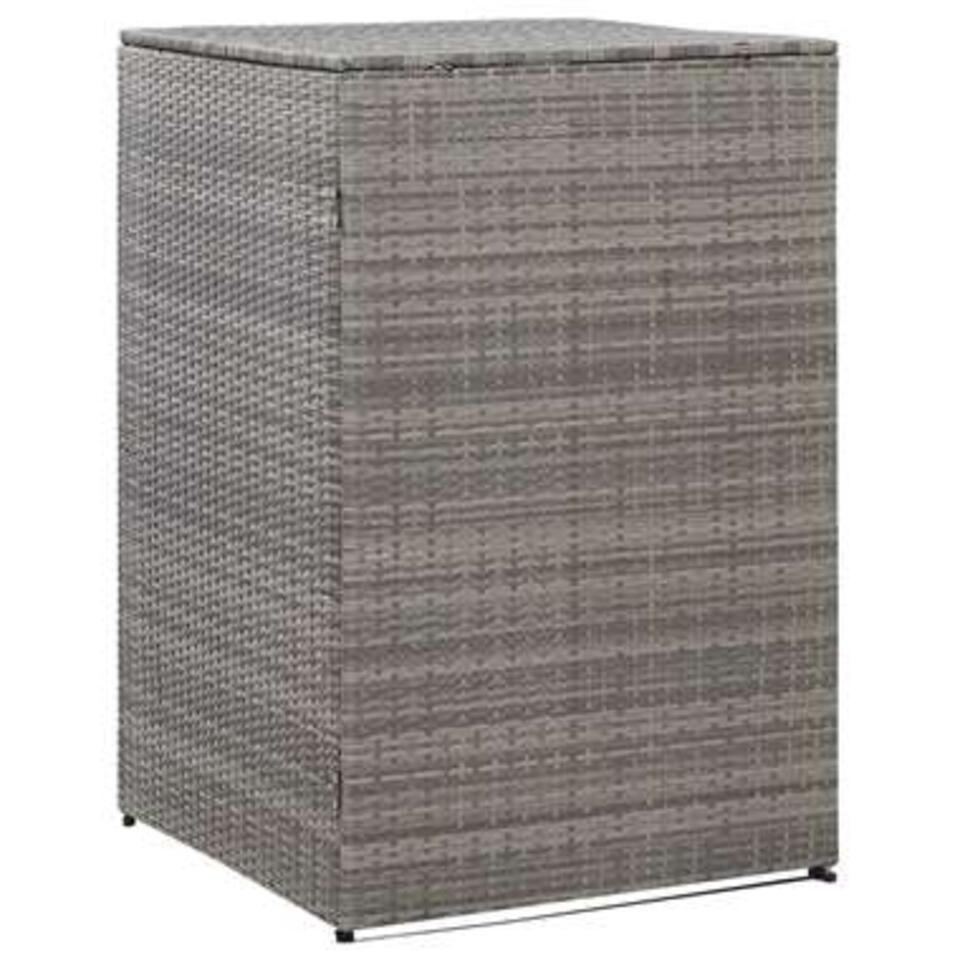 vidaXL Containerberging enkel - 76x78x120 cm - poly rattan - antraciet