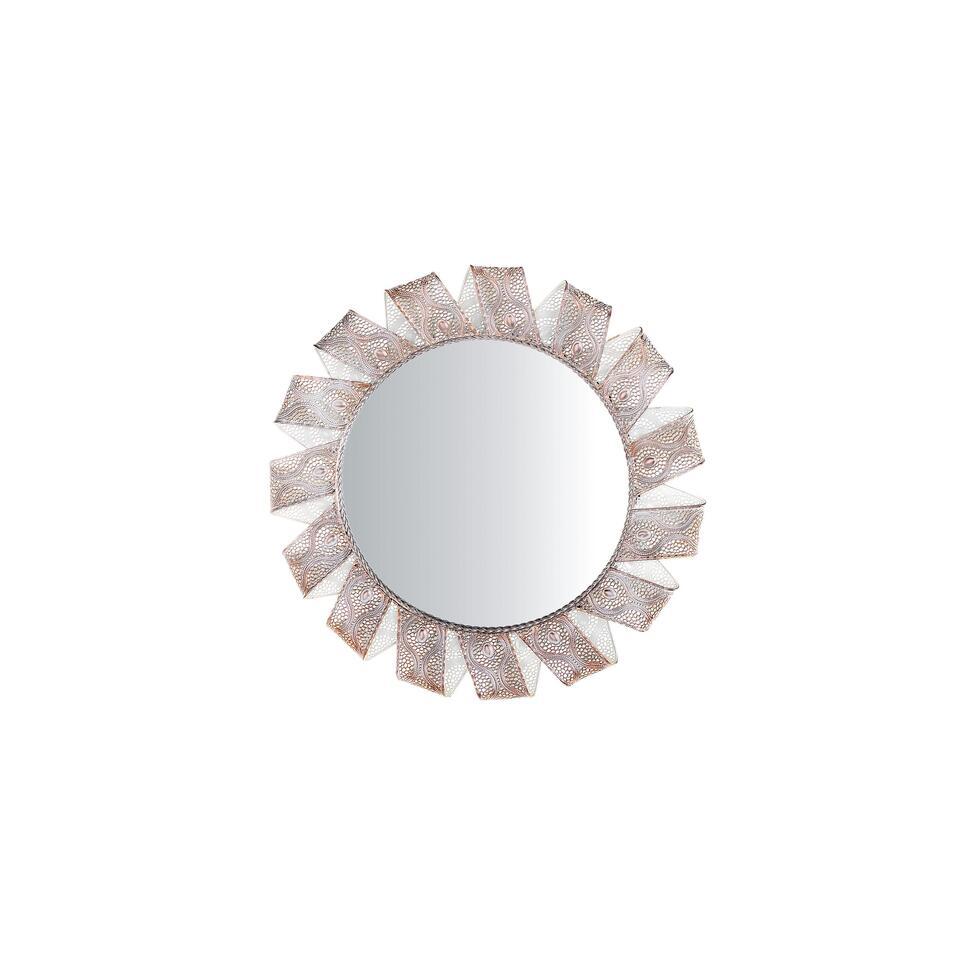 Beliani Wandspiegel MANGALORE - zilver metaal