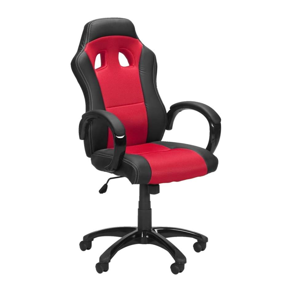 Ben je een raceautoliefhebber? Dan mag de Monza bureaustoel zeker niet ontbreken achter je bureau! Het stoere design van de felrode stoel is gebaseerd op een echte autoracestoel. Bureaustoel Monza is ook verkrijgbaar in het zwart.