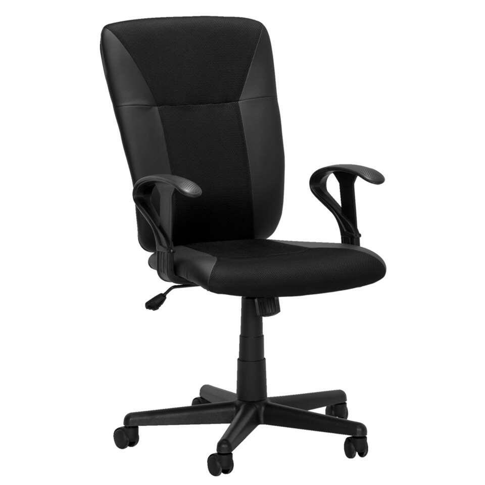 Luxe bureaustoel inclusief armleuningen, het rug- en zitgedeelte zijn kantelbaar en de stoel is in hoogte verstelbaar.