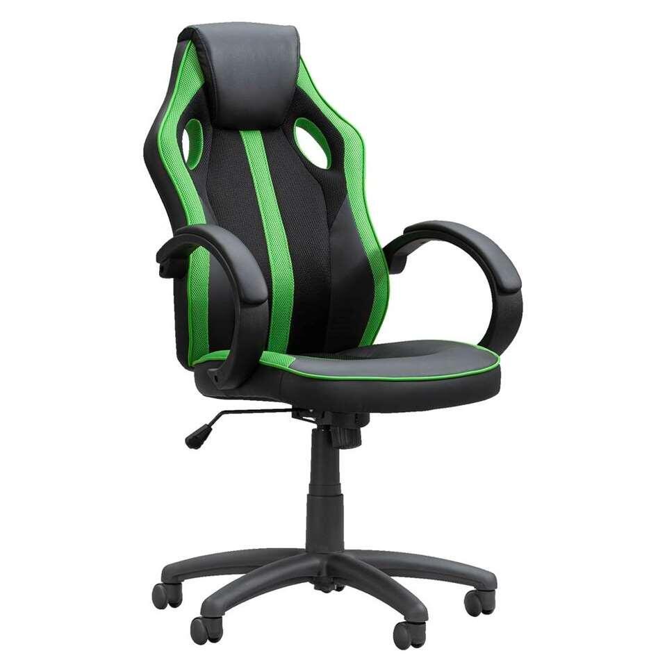 Gamestoel Max - zwart/groen