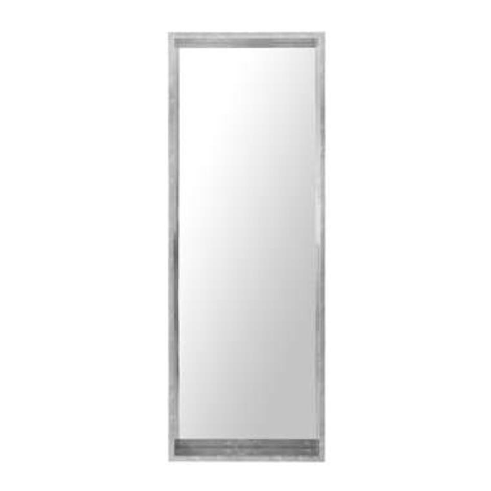 Beliani Wandspiegel OIRON - zilver kunststof