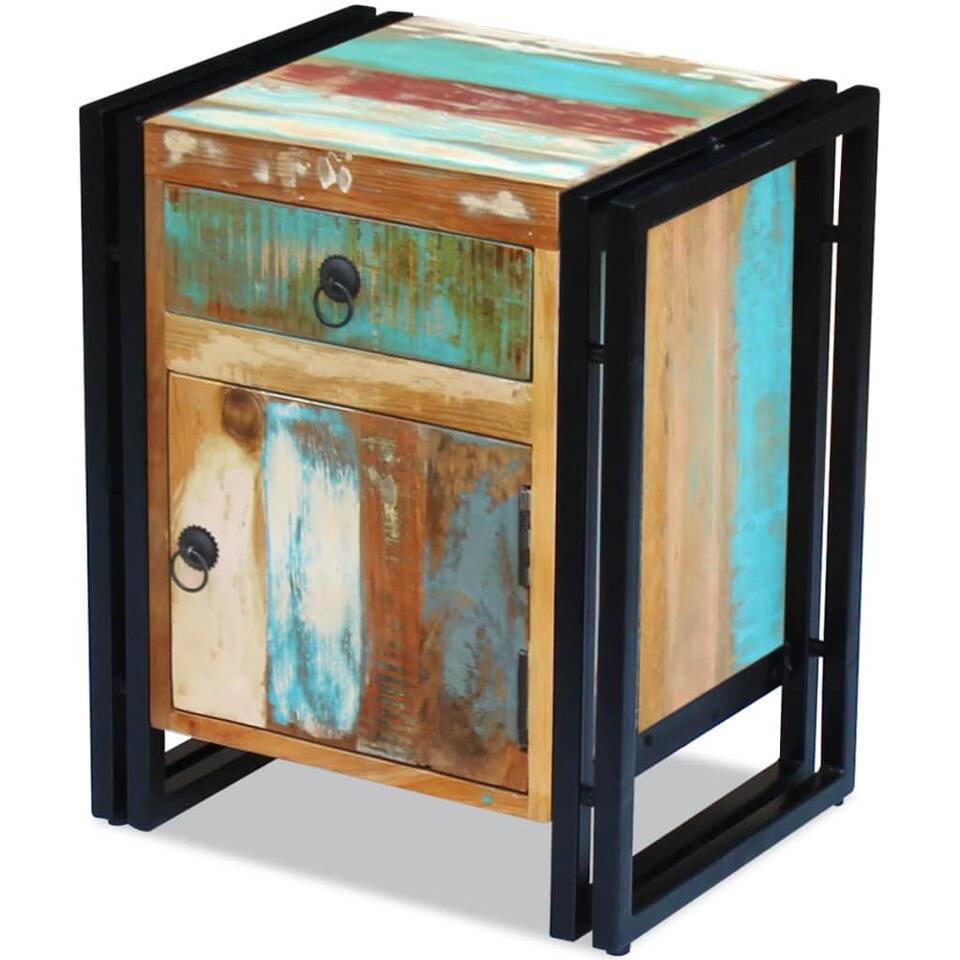 VIDAXL Nachtkastje - massief gerecycled - hout