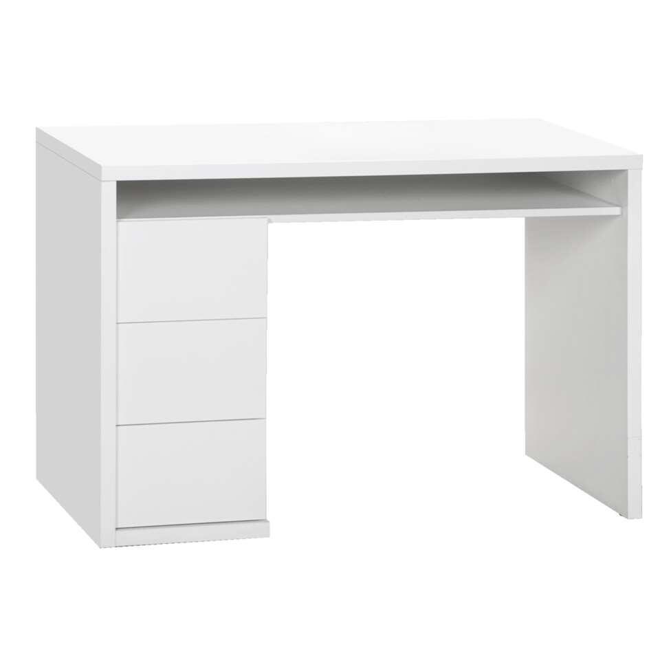 Bureau Genua - hoogglans wit - 75x110x60 cm