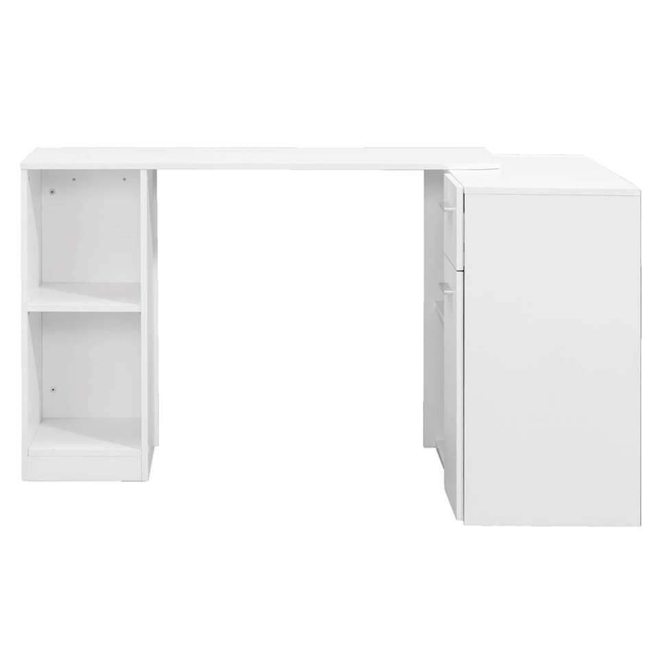 Bureau Open - wit - 77,9x114,3x42,3 cm - Leen Bakker