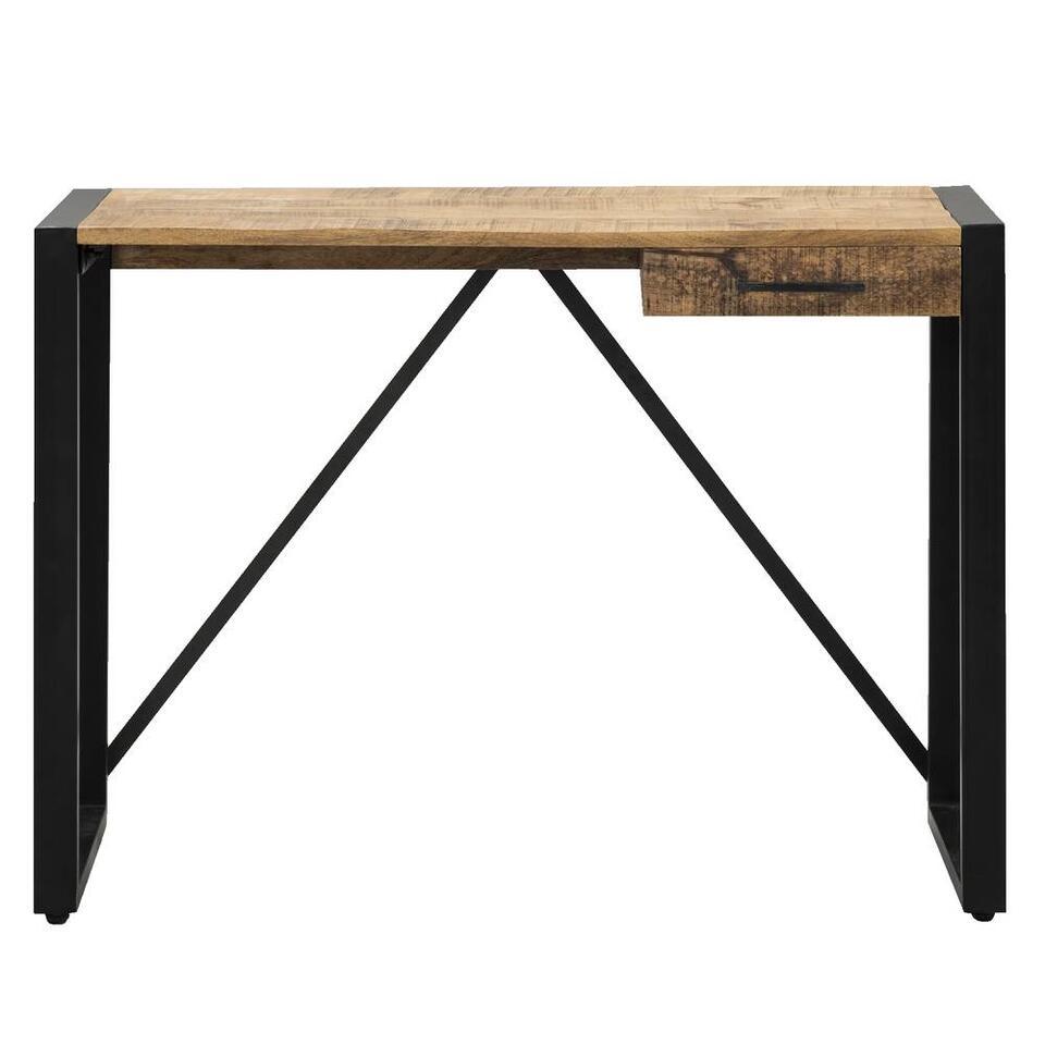 Bureau Kyan - zwart/naturel - 78x110x40 cm