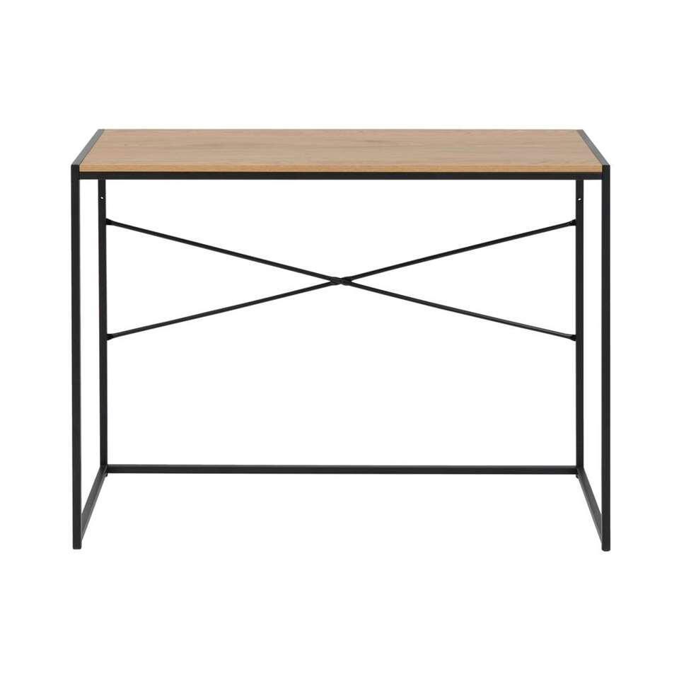 Bureau Jaxx - naturel/zwart - 75x100x45 cm