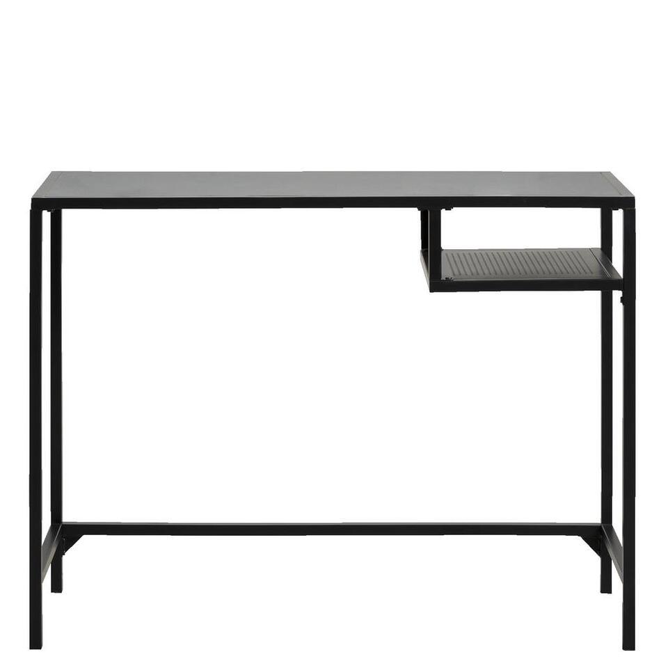 Bureau Justin – zwart – 75x100x40 cm – Leen Bakker