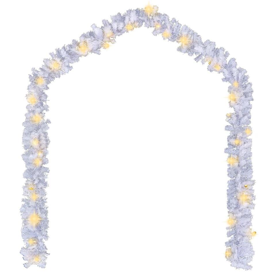 vidaXL Kerstslinger met LED-lampjes - 20 m - wit