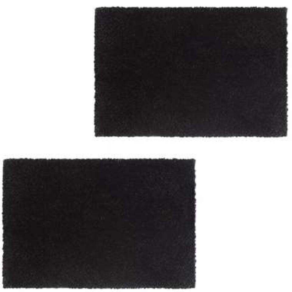 vidaXL Deurmatten - 17 mm - 50x80 cm - koksvezel zwart 2 st