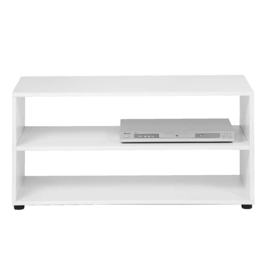 TV-meubel Vancouver - wit - 45x90x39 cm - Leen Bakker