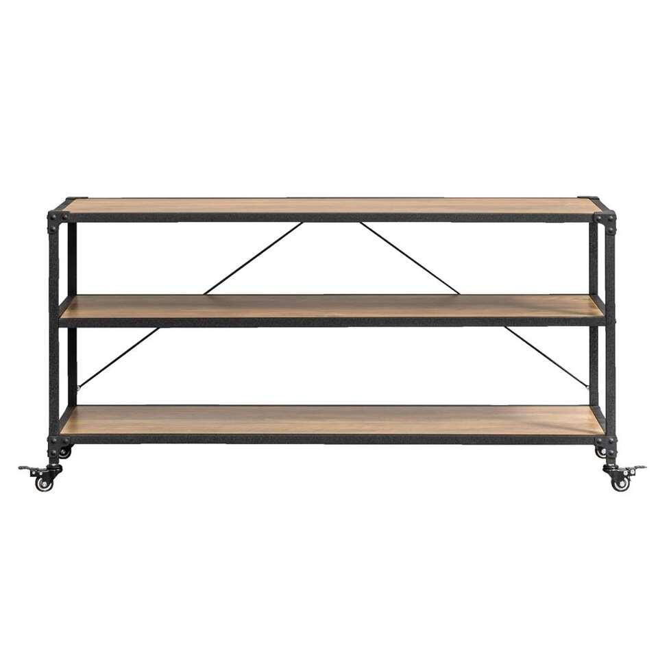 TV-meubel Lennox – bruin/zwart – 58x120x39 – Leen Bakker