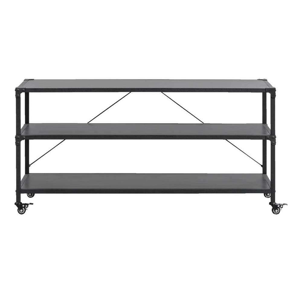 TV-meubel Lennox - zwart - 58x120x39 cm