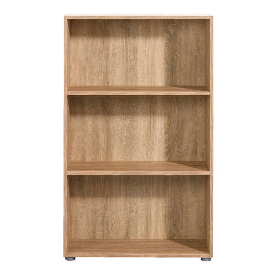 boekenkast rome eiken 119x70x298 cm