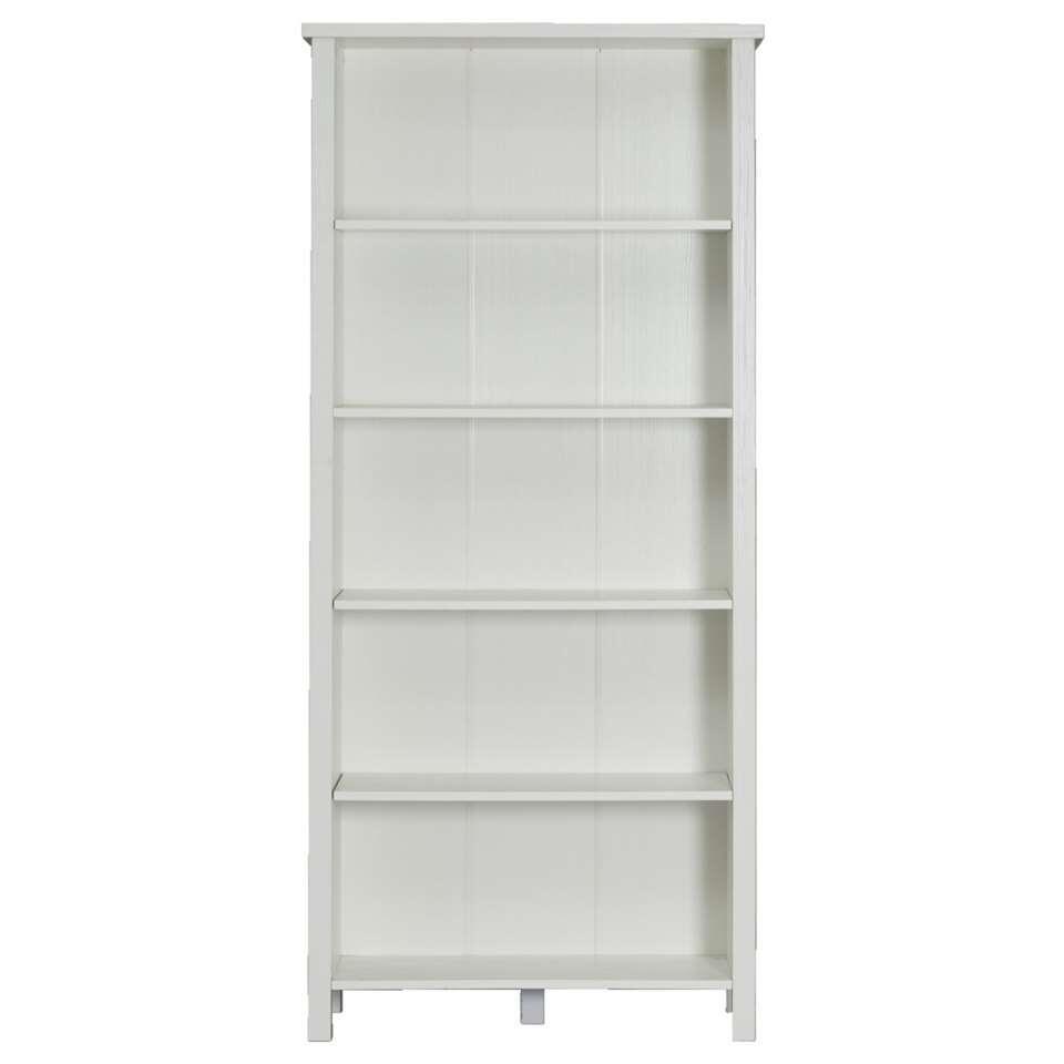 Boekenkast Bianca - wit - 179,5x80x32 cm - Leen Bakker