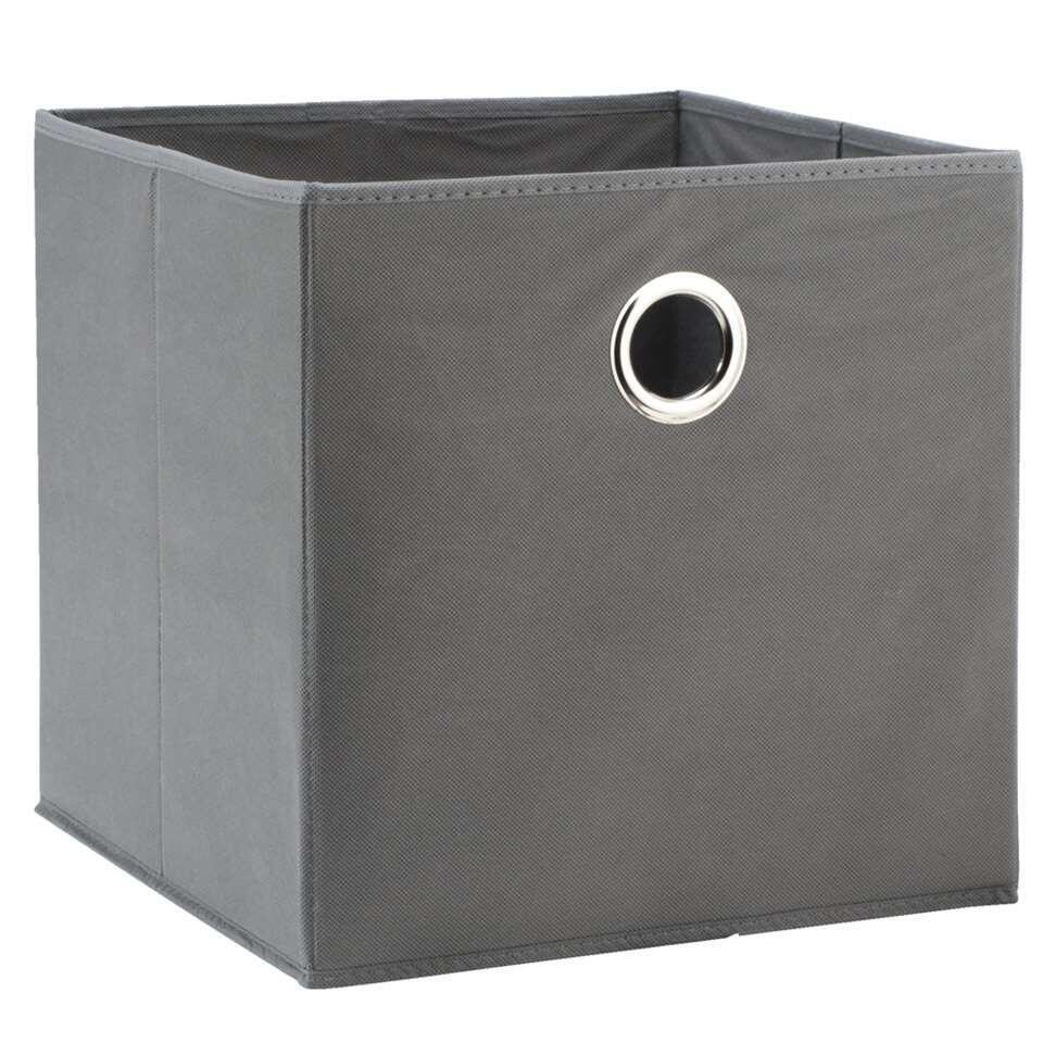 Opbergbox Parijs - grijs - 31x31x31 cm