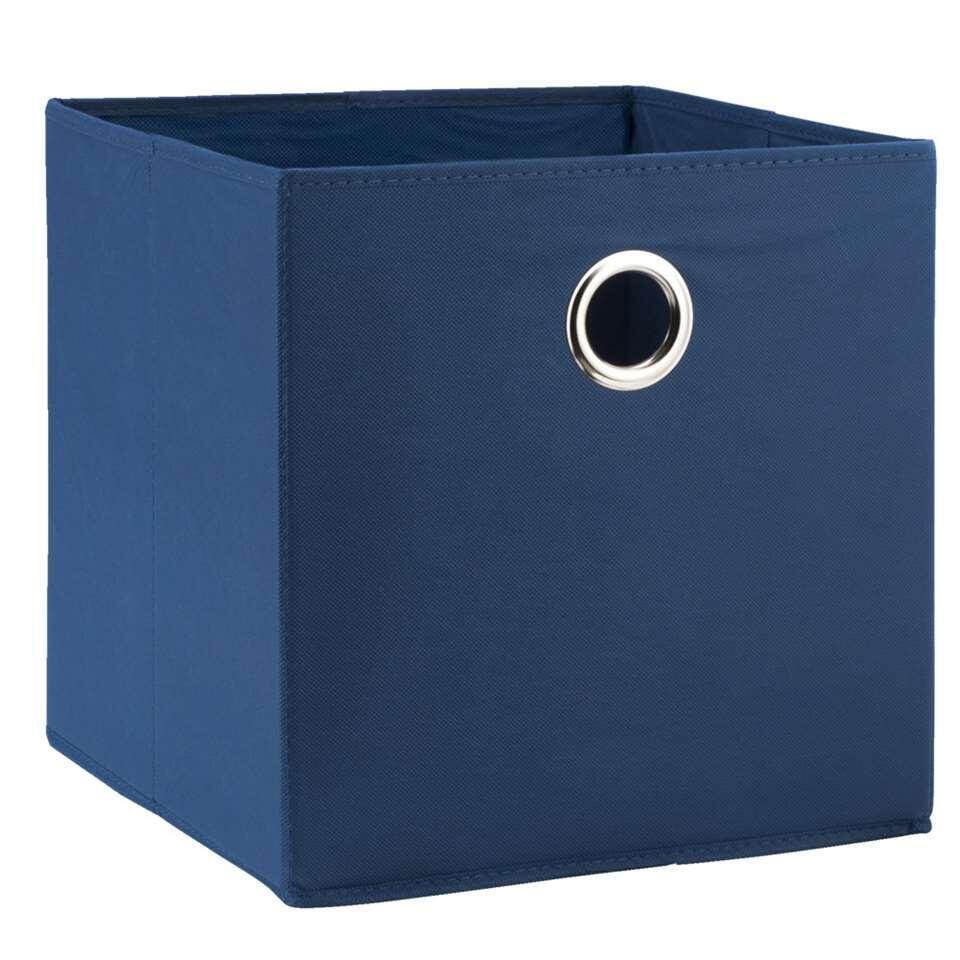 Opbergbox Parijs donkerblauw 31x31x31 cm Leen Bakker
