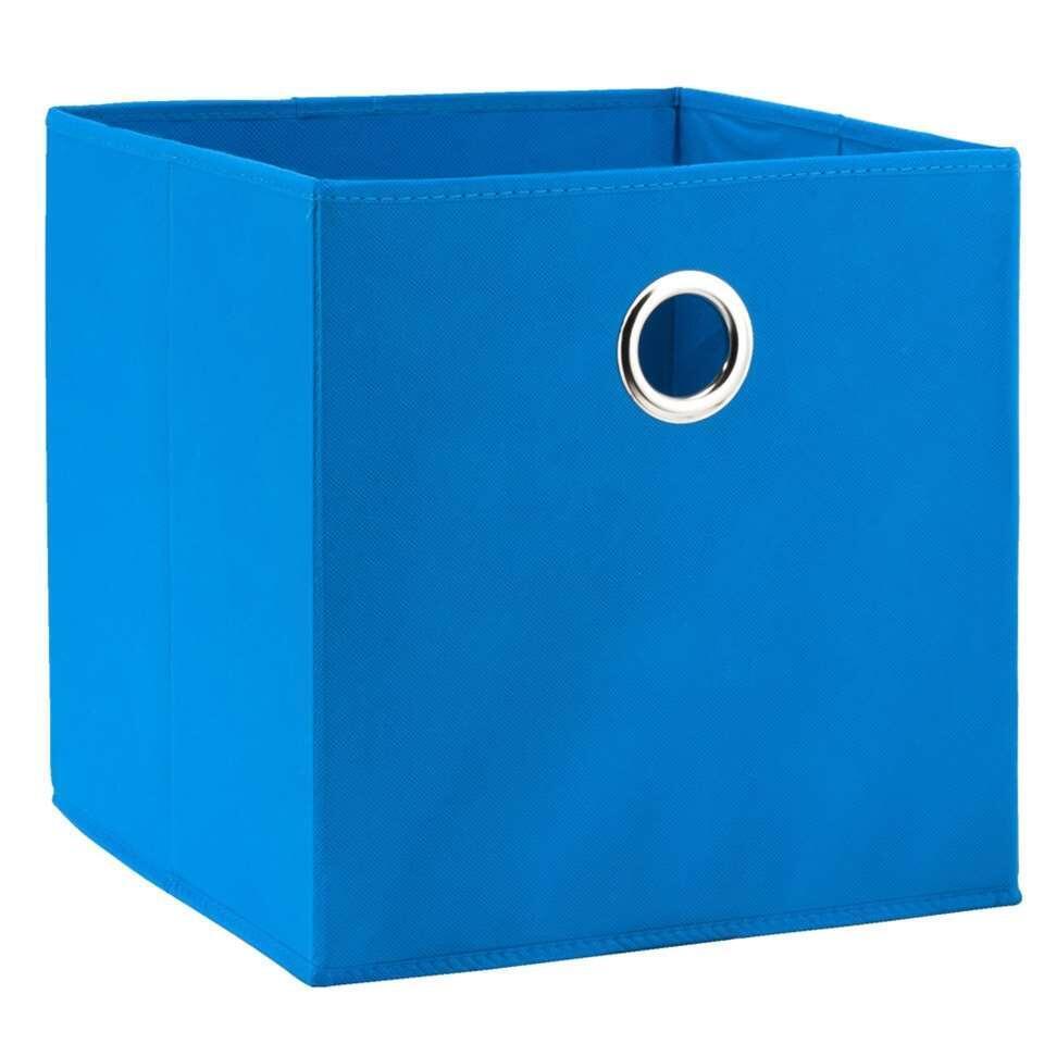 Opbergbox Parijs azuur 31x31x31 cm Leen Bakker