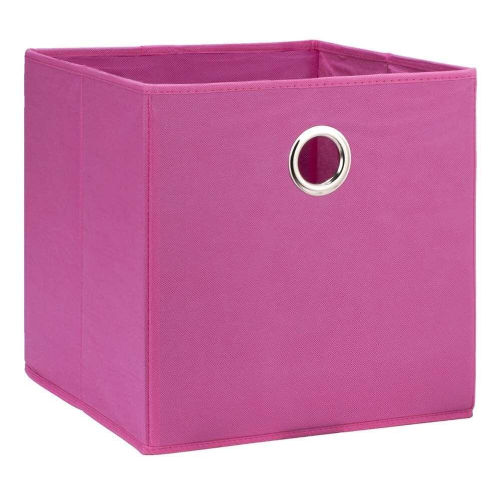 Opbergbox Parijs is roze en 31x31x31 cm. In deze handige opbergbox kun je bijvoorbeeld het speelgoed van je kinderen opbergen. Opruimen was nog nooit zo leuk.
