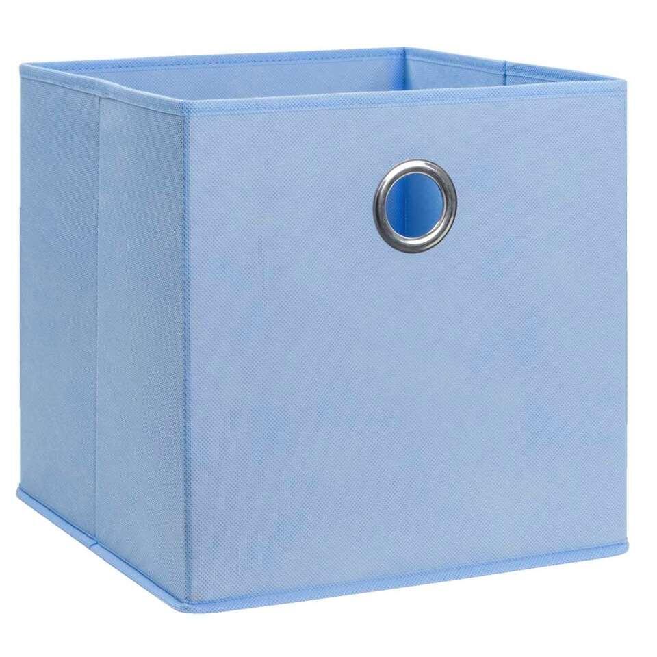 Opbergbox Parijs - blauw - 31x31x31 cm