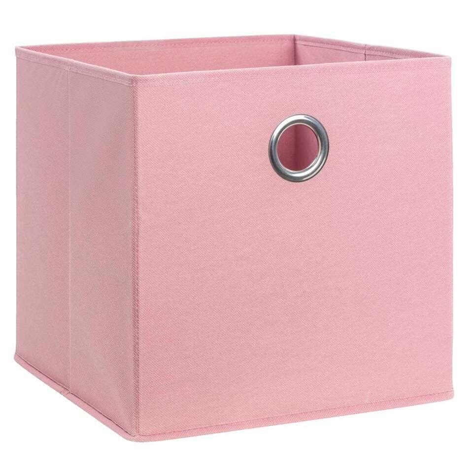 Opbergbox Parijs - blush - 31x31x31 cm