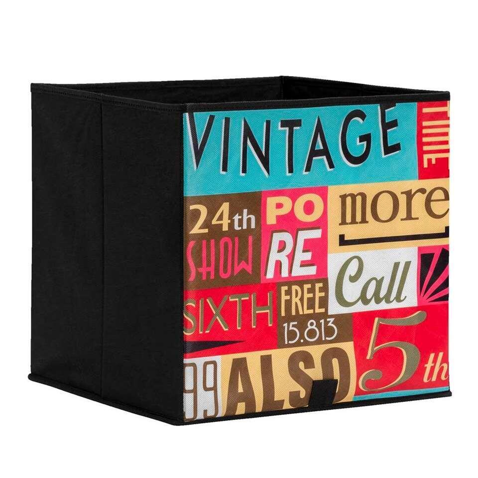 Opbergbox Lyon Vintage 31x31x31 Cm