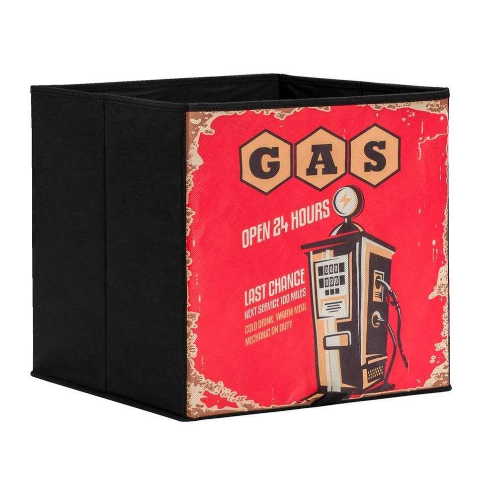 Opbergbox Lyon Gasstation 31x31x31 Cm