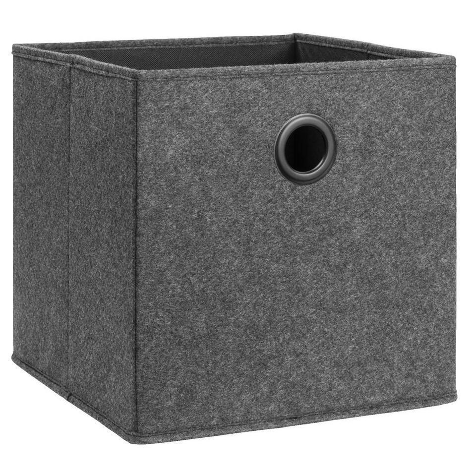 Opbergbox Lille - antraciet - 31x31x31 cm