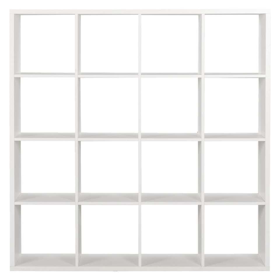 Roomdivider Parijs 16 vakken – wit – 141x141x33 cm – Leen Bakker
