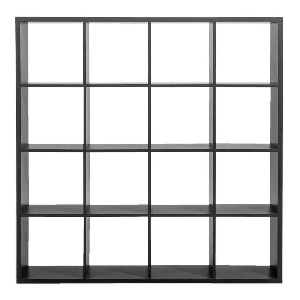 Roomdivider Lyon 16 vakken - grijs - 141x141x33 cm - Leen Bakker
