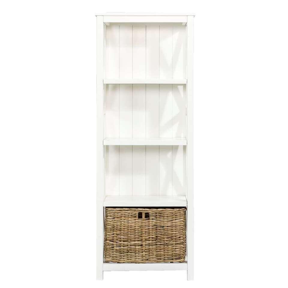 Boekenkast Valerie - off-white - 160x60x35 cm