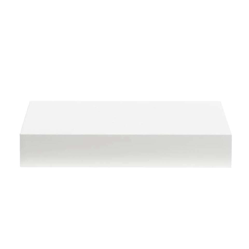 Wandplank - wit - 3,8x60x23,5 cm - Leen Bakker