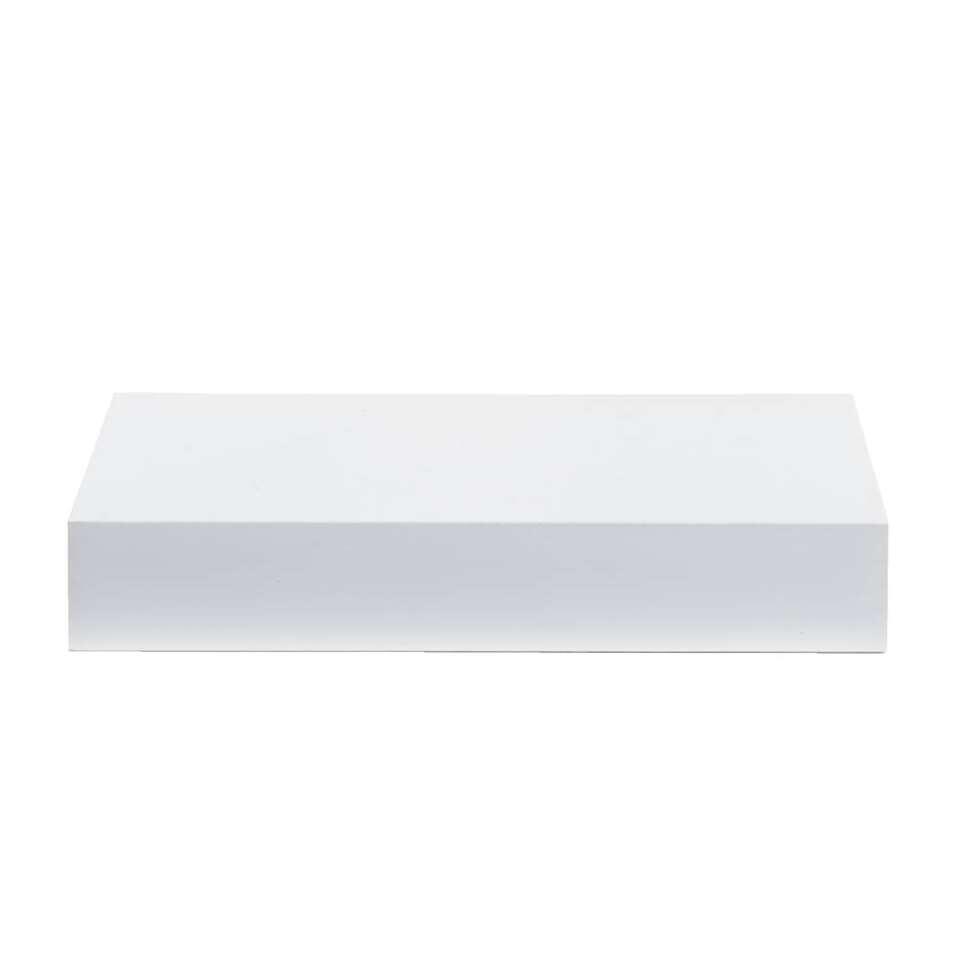 Wandplank - hoogglans wit - 3,8x60x23,5 cm - Leen Bakker