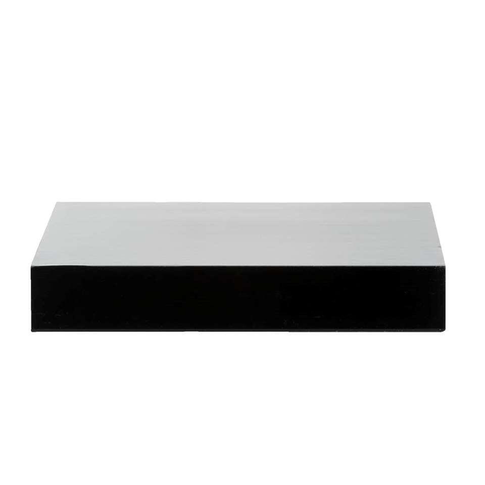 Wandplank - hoogglans zwart - 3,8x60x23,5 cm - Leen Bakker