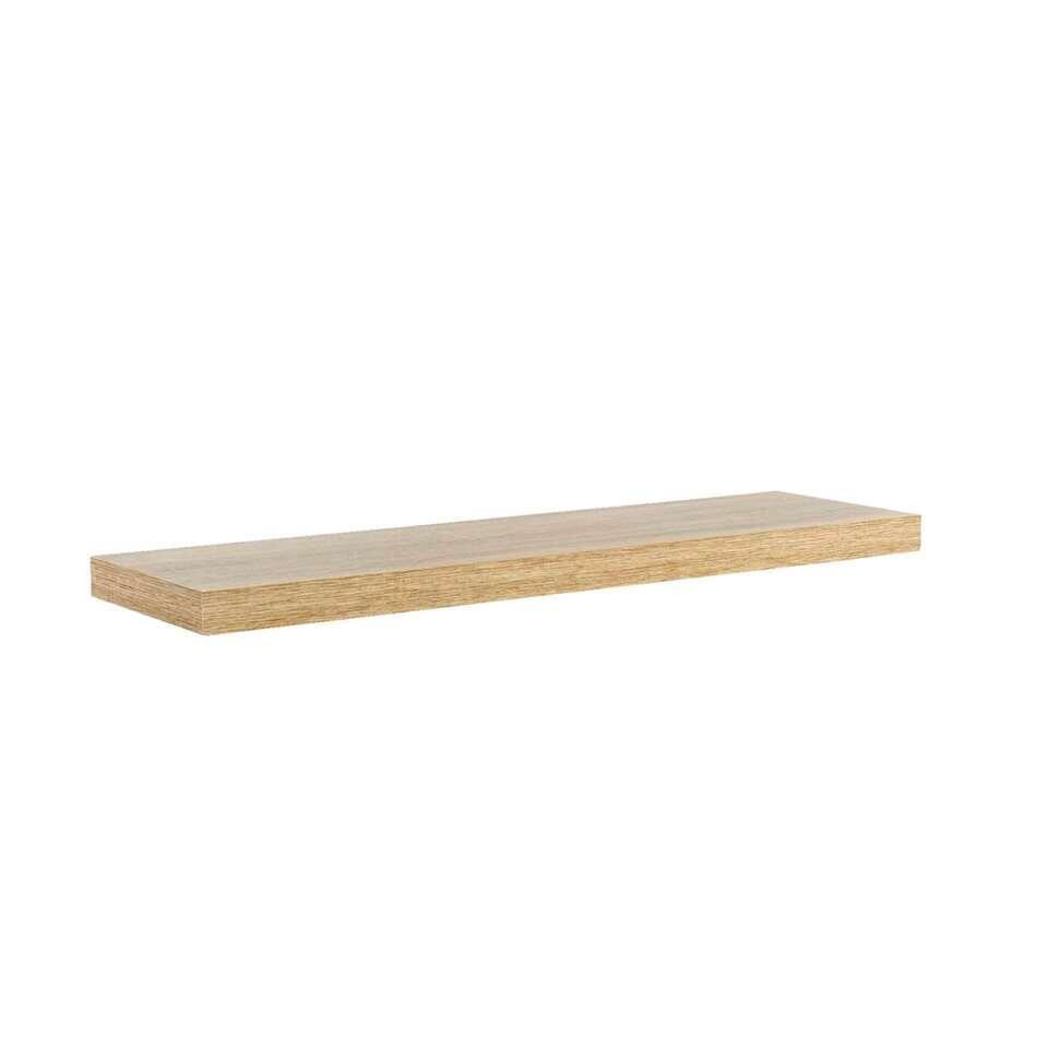 B Organised Wandplank.Wandplank Eikenkleur 3 8x80x23 5 Cm