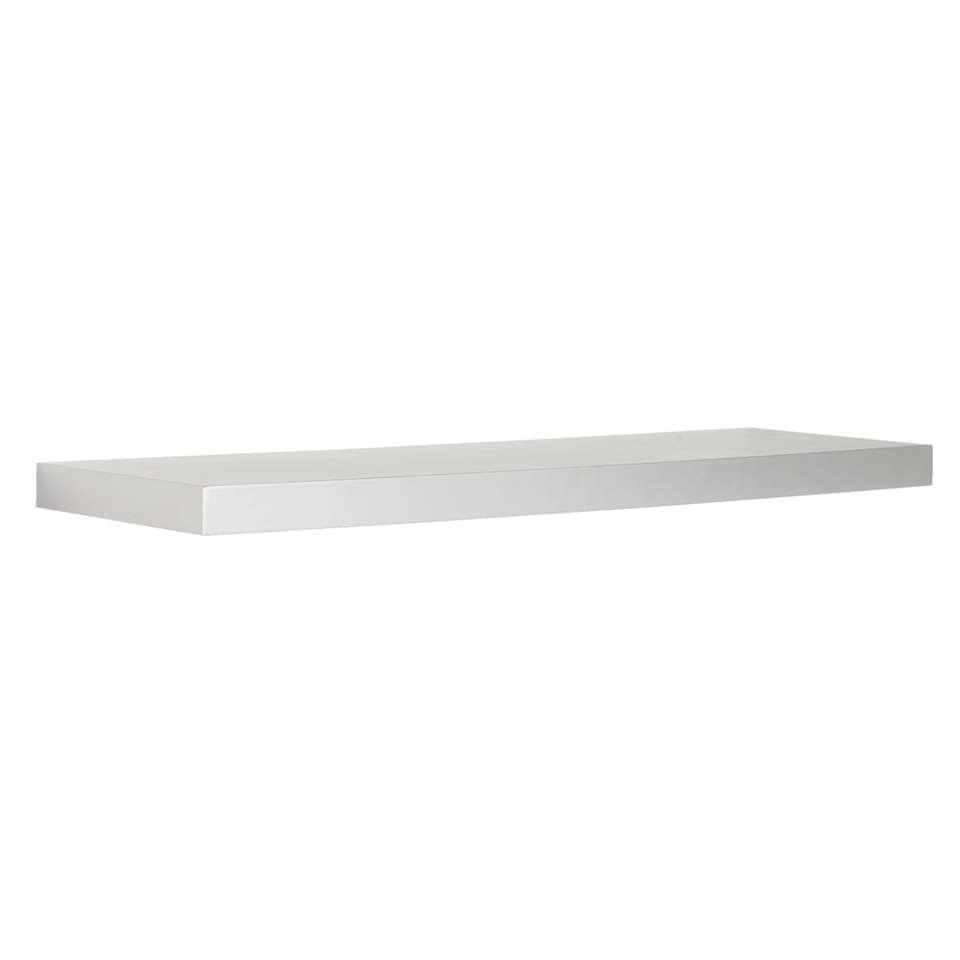 ¥Wandplank - zilver - 3,8x80x23,5 cm¥ - Leen Bakker