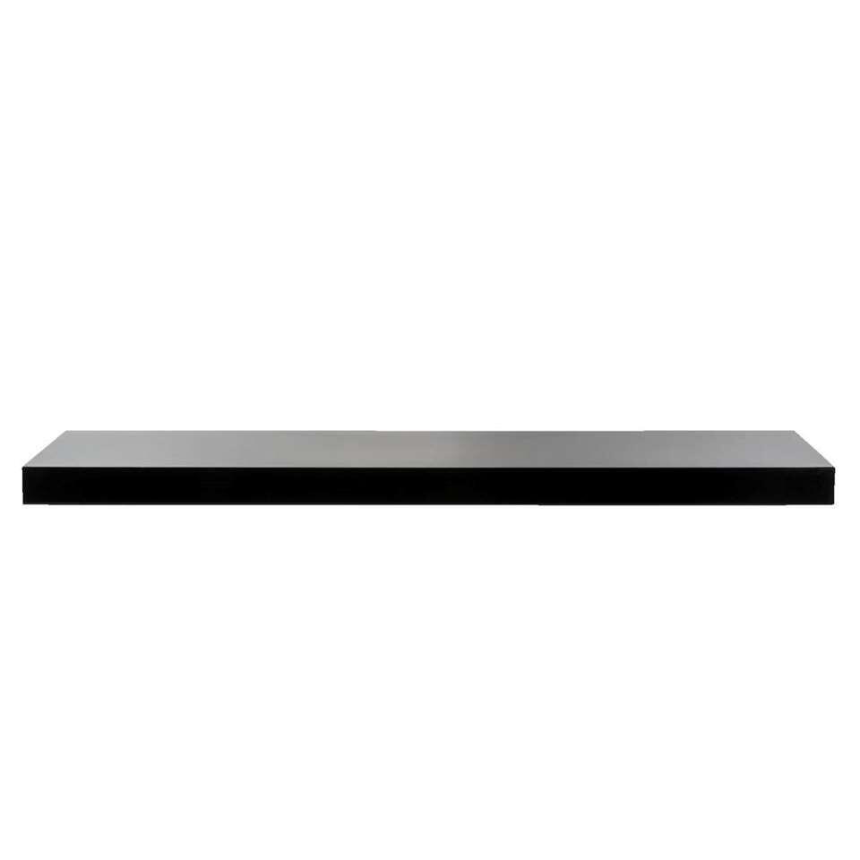Wandplank 100 Cm.Wandplank Hoogglans Zwart 3 8x80x23 5 Cm