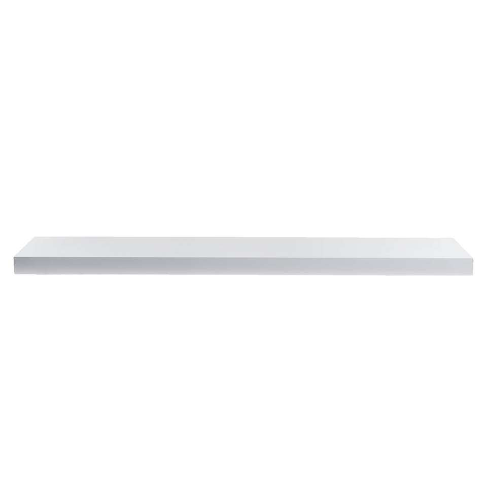 Hoogglans Wit Plank Op Maat.Wandplank Hoogglans Wit 23 5x118x3 8 Cm