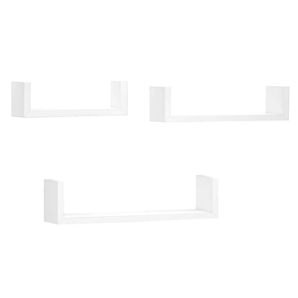 Fotoplank Wit 2 Meter.Set Van 3 Wandplanken Wit