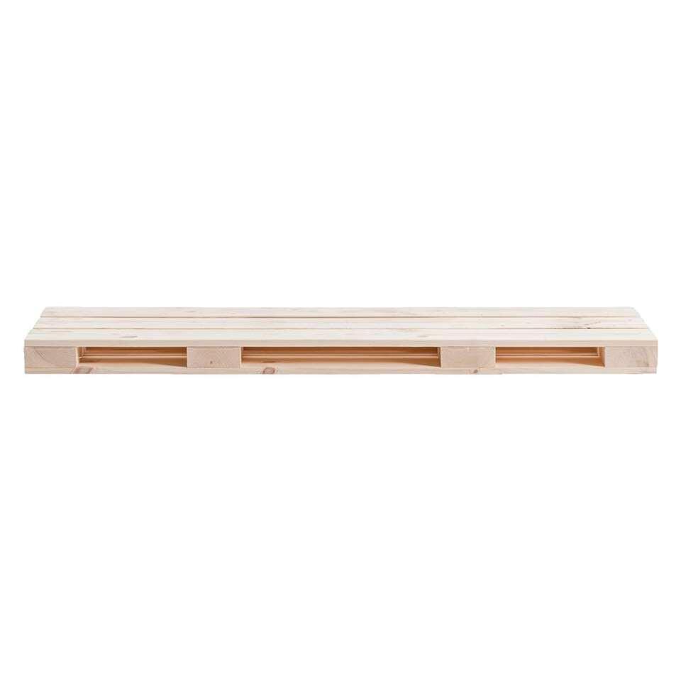 Wandplank Pallet - whitewash - 80x23,5 cm - Leen Bakker